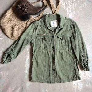 American Eagle Outfitters Olive Green Shirt Jacket